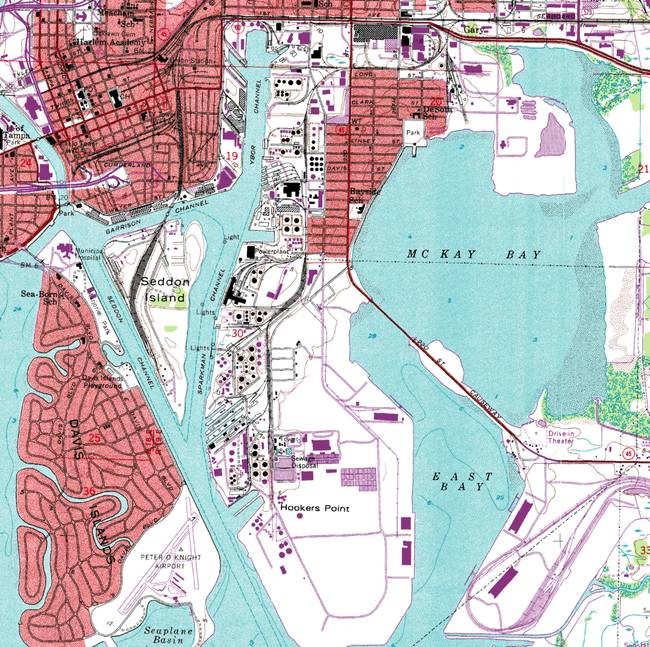 Topographic Map Of Tampa Florida By Dandye - Florida topographic map