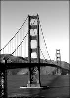Golden Gate Bridge {B&W}