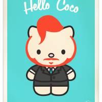 Hello Coco Art Prints & Posters by Steve Dressler