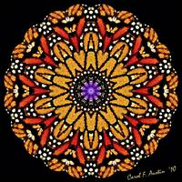 Monarch Butterfly Wings Kaleidoscope Wall Art
