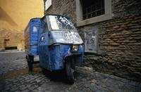 Three-wheeler, Trastevere, Rome
