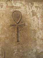 Ancient Egypt Hieroglyphic Ankh from Karnak Temple