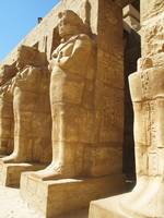 Statues of Pharaoh Kings in Karnak Temple