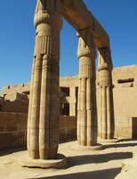 Pillars at the Temple Complex of Karnak in Thebes
