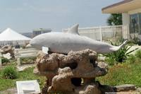 Dolphin statue at Marineland of Florida