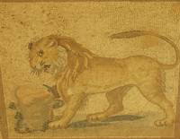 Roman mosaic of a lion