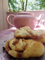 Pink Tea Pot and Treats