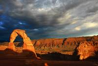 Delicate ARch and landscape to the Southwest