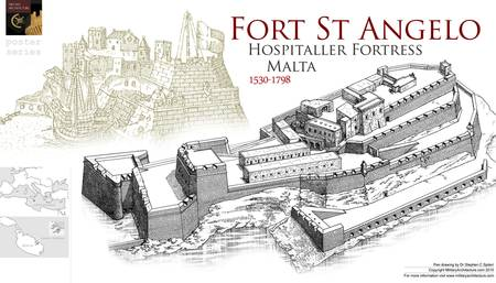 Fort St. Angelo, Malta by Military Architecture
