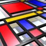 """Mondrian Inspired 3D"" by ModernArtPrints"