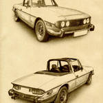 """Triumph Stag"" by ModernArtPrints"