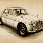 """Rover P5 1968"" by ModernArtPrints"