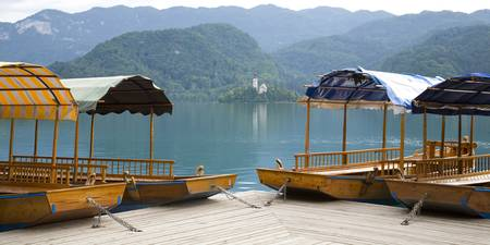 View across Lake Bled