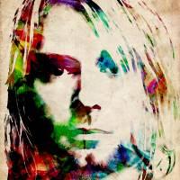 """Kurt Cobain Urban Watercolor"" by ModernArtPrints"