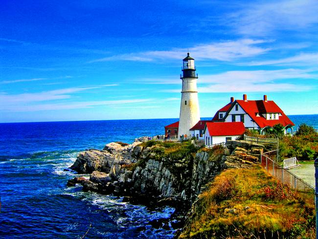 Portland Head Light in Maine