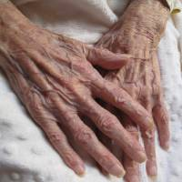 These are the hands that held me Art Prints & Posters by June DeAngelis