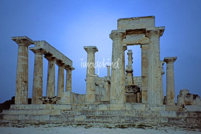 Temple of Aphaia, Aegina, Spring Evening 2003 11