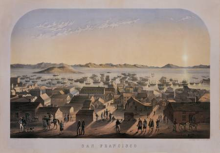 New Day on San Francisco Waterfront, c1850