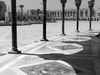 Hassan II mosque bw