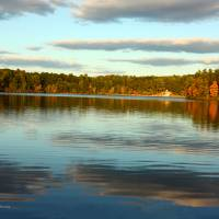 """""""Walden Pond: The Fall Sky"""" by PhotographyByBarbaraOlson"""