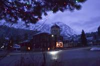Foggy Night in December - Ouray, CO