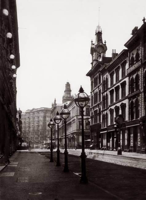 Palace Hotel from Montgomery St. c1880