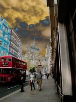 Ludgate Hill towards St. Paul's Cathedral