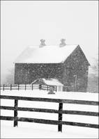Barn in a Snowstorm