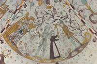 Danish medieval village church Fresco