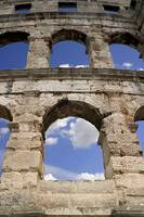The Arched wall at the Roman Amphitheatre, Pula, C