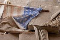 Old Flag, Schoolhouse, Ghosttown of Bodie