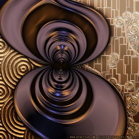 Gilded Fractal #2 by Ann Stretton