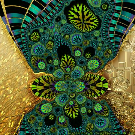 Gilded Fractal #5 by Ann Stretton