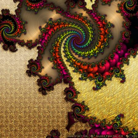 Gilded Fractal #10 by Ann Stretton