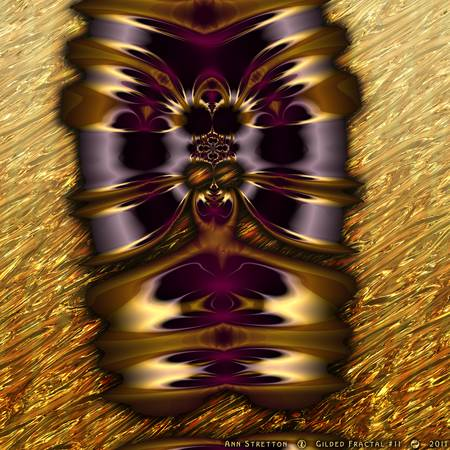 Gilded Fractal #11 by Ann Stretton