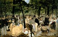 Music in the Tuileries Gardens, 1862, by Manet