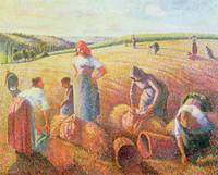 The Gleaners, 1889, by Camille Pissarro