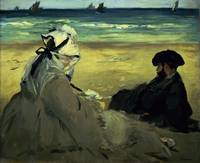 On the Beach, 1873, by Edouard Manet