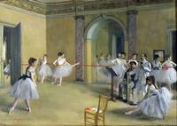 Dance Foyer at the Opera, 1872, by Edgar Degas