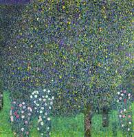 Roses Under the Trees, c1905, by Gustav Klimt