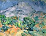 Mont Sainte-Victoire, 1900, by Paul Cezanne