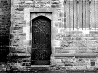 Church Door (Black and White)