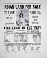 Indian Land for Sale - Vintage Advertisement
