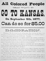 Kansas Colony Announcement, Vintage Notice