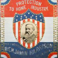 """Republican Election Poster for Benjamin Harrison"" by fineartmasters"