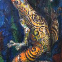 The Tattooed Frog Art Prints & Posters by Sonia Colonna Mathis