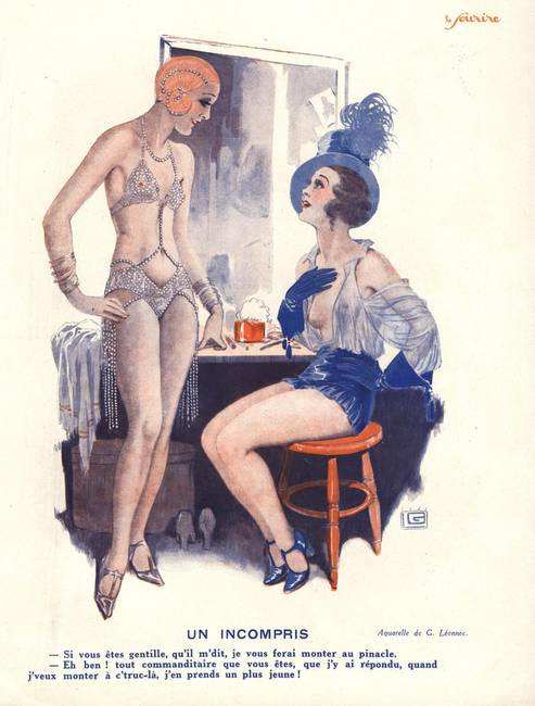 'Le Sourire' Front Cover Illustration - Showgirls