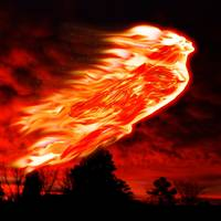 Fire goddess (red sky)