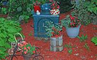 Garden with Iron Stove