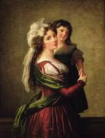 M. Rousseau and her Daughter, 1789, by Vigee-Lebru